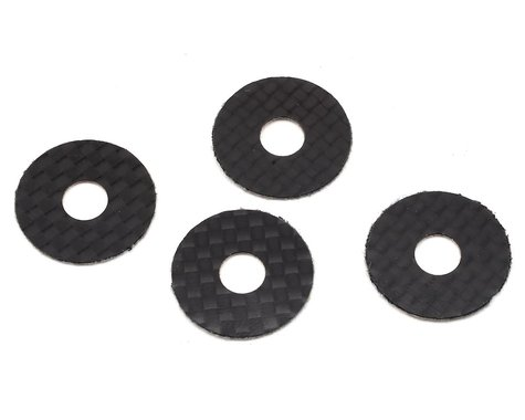1UP Racing 6mm Carbon Fiber Body Washers (4)