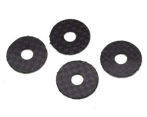 1UP Racing 5mm Carbon Fiber Body Washers (4)