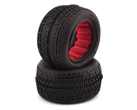 AKA Racing Rebar Rear Tires with Red Inserts (Super Soft) AKA13108VR