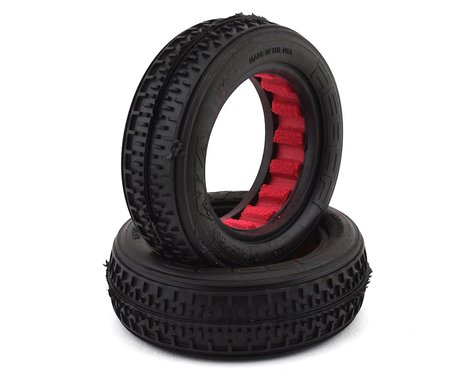 AKA Racing Rebar Fr 2WD Tires with Red Inserts (Super Soft) AKA13208VR