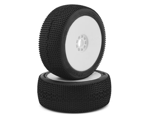 AKA P1 1/8 Buggy Pre-Mounted Tires (2) (White) (Soft)