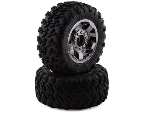 Arrma dBoots Ragnarok MT Mounted Tire Set Black Chrome ARA550053