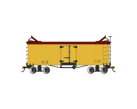 Bachmann Reefer (Yellow w/Brown Roof & Ends) (On30 Scale)