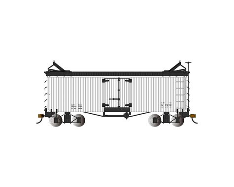 Bachmann Reefer (White w/Black Roof & Ends) (On30 Scale)