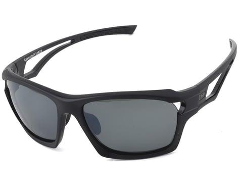 Optic Nerve Cassette Polarized Sunglasses (Two Tone Black) (Smoke/Silver Flash)