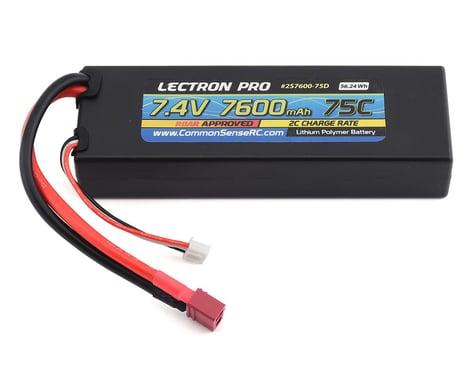 Common Sense RC Lectron Pro 2S 75C LiPo Battery w/T-Style (7.4V/7600mAh)