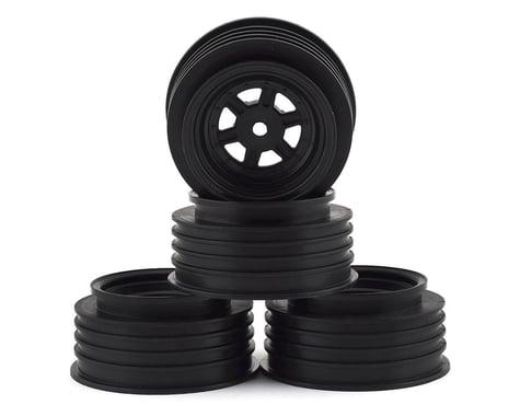 DE Racing Black Gambler Front Wheels with 12mm Hex DERGSFAB