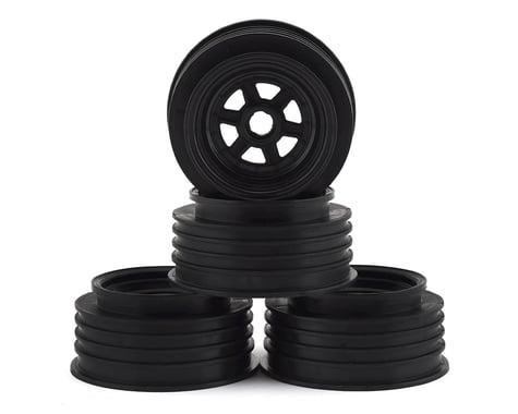 "DE Racing Black Gambler Front Wheels for 3/8"" Bearing DERGSFCB"