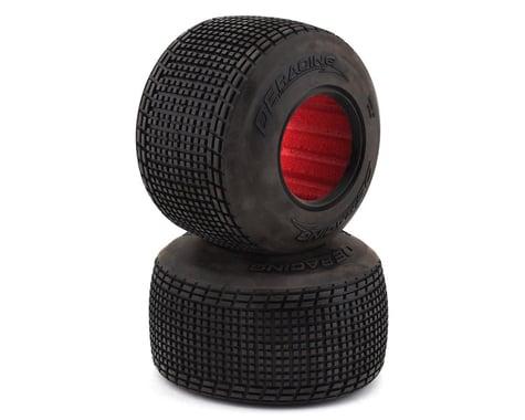 DE Racing Outlaw Sprint Dirt Oval Rear Tires w/Red Insert (2) (D30)