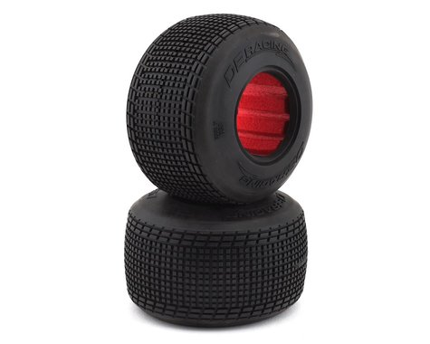 DE Racing Outlaw Sprint Dirt Oval Rear Tires w/Red Insert (2) (D40)