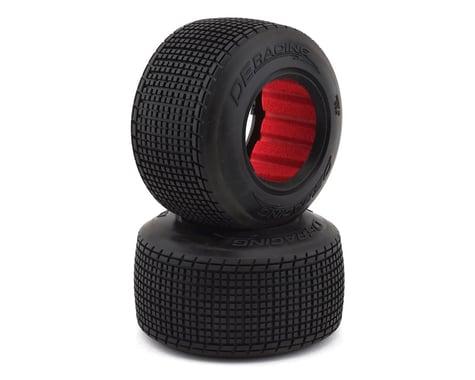 DE Racing Regulator Late Model Dirt Oval Rear Tires w/Red Insert (2) (D40)