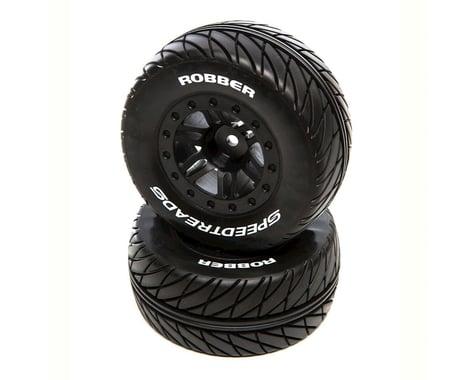 DuraTrax F/R SpeedTreads Robber SC Mounted Tires Black DTXC2929