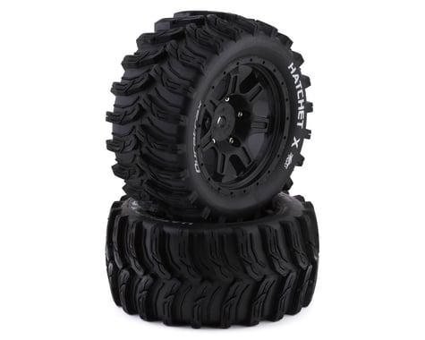 DuraTrax Hatchet X Tires Mounted Black 24mm DTXC5503
