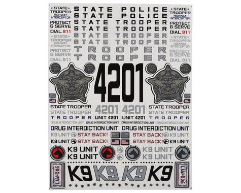 "Firebrand RC State Trooper Decal Sheet (8.5x11"")"