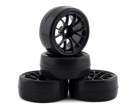 Firebrand RC Hustler RS Pre-Mounted On-Road Tires (4) (Black)