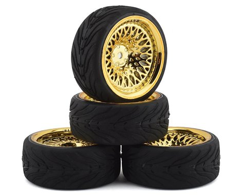 Firebrand RC Crownjewel RT39 Pre-Mounted On-Road Tires (4) (Gold)