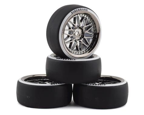 Firebrand RC Darkmatter D23 Pre-Mounted 2-Piece Drift Tires (4) (Smoke Chrome)