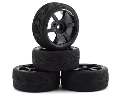 Firebrand RC Scorch RT3 Pre-Mounted On-Road Tires (4) (Black)