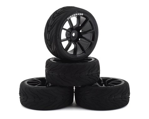 Firebrand RC Turbine RT3 Pre-Mounted On-Road Tires (4) (Black)