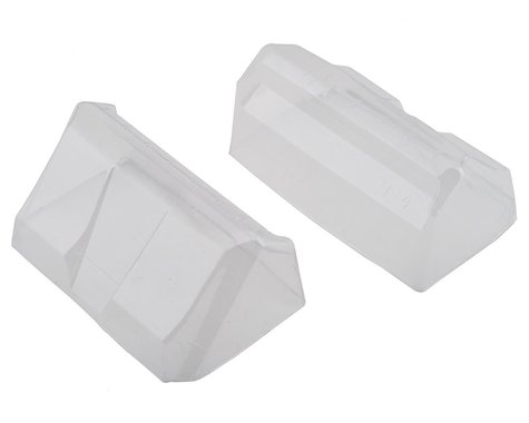 """JConcepts HB D418 """"Aero"""" S-Type Rear 1/10 Buggy Wing (2) (Clear)"""