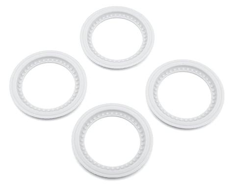 JConcepts Tribute Wheel Mock Beadlock Rings White (4) JCO26513