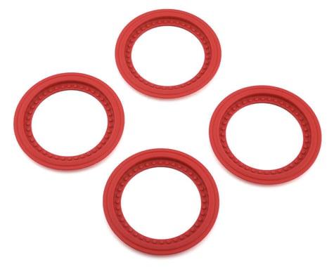 JConcepts Tribute Wheel Mock Beadlock Rings Red (4) JCO26517