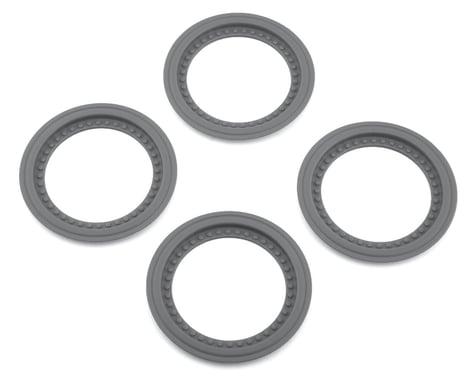 JConcepts Tribute Wheel Mock Beadlock Rings Silver (4) JCO26518