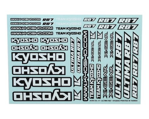Kyosho RB7 Decal Sheet