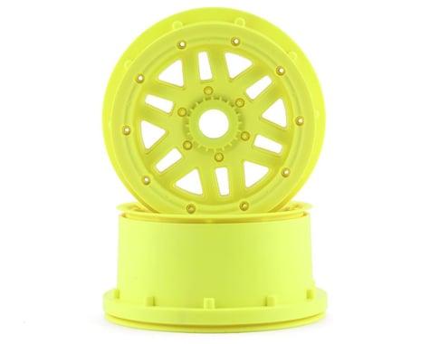 Losi 5IVE-T 2.0 Wheel & Beadlock Set Fluorescent Yellow (2) LOS45024