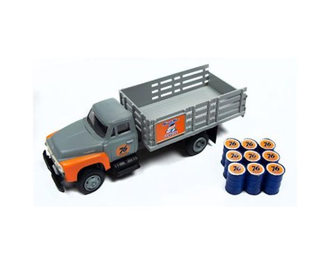 Classic Metal Works HO 1954 Ford Stakebed Truck & Oil Drums, Union 76