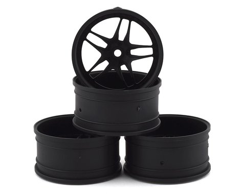 MST FB Wheel Set (Flat Black) (4) (+11 Offset)