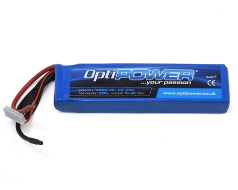 Optipower 6S 25C LiPo Battery (22.2V/1300mAh)