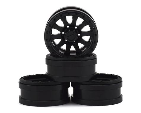 Pit Bull Tires 1.9 Raceline Clutch Alum Wheels Blk (4) PBTPBW19CLBB