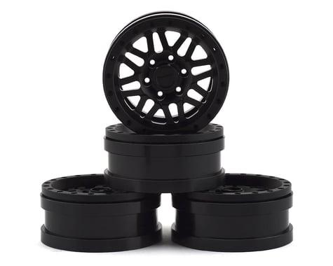Pit Bull Tires 1.9 Raceline Ryno Alum Wheels Blk (4) PBTPBW19RYBB