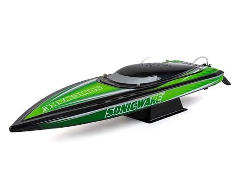 "Pro Boat 36"" Sonicwake Self-Right Deep-V Brushless RTR Boat (Green/Black)"