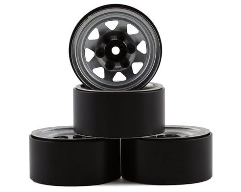 """RC4WD Stamped Steel 1.0"""" Stock Beadlock Wheels Chrome RC4Z-W0263"""