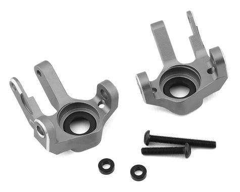 Samix SCX10 II Double Sheer V2 Steering Knuckle (2) (Grey)
