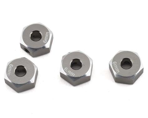 Samix SCX10 II Aluminum 12mm Hex Adapter (Grey) (4) (6mm)