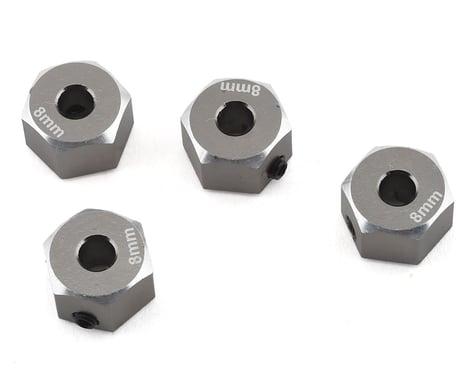 Samix SCX10 II Aluminum 12mm Hex Adapter (Grey) (4) (8mm)