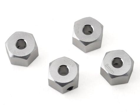 Samix SCX10 II Aluminum 12mm Hex Adapter (Silver) (4) (8mm)