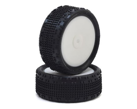 """Schumacher Cactus Fusion 2.2"""" Front 1/10 4wd Buggy Pre-Mounted Turf Tire (2) (Yellow)"""