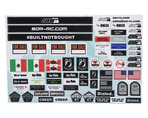 SOR Graphics V2 Scale Decal Sheet