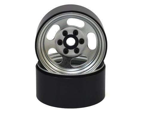 """SSD RC Slot 1.9"""" Steel Beadlock Wheels (Silver)"""