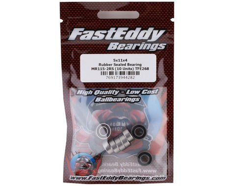 Team FastEddy MR115-2RS 5x11x4mm Rubber Sealed Bearing (10) TFE268