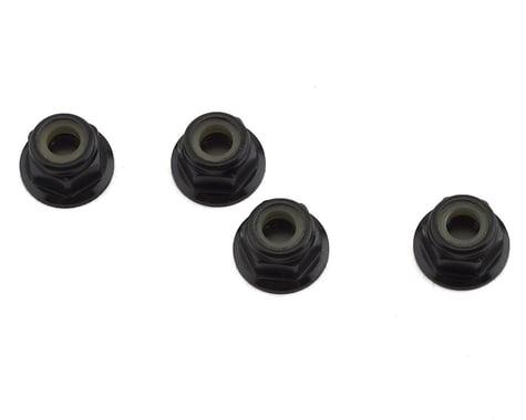 Team Losi Racing Aluminum M4x0.7x7mm Flanged Locknuts (4) TLR236009