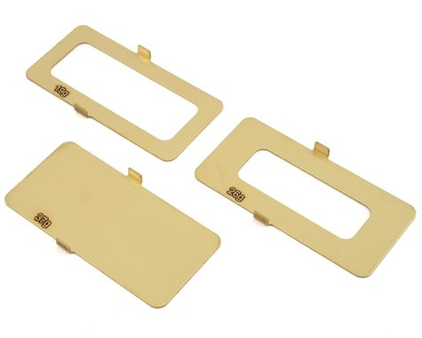 Team Losi Racing 22 5 19g/26g/37g Brass Battery Weights TLR331045