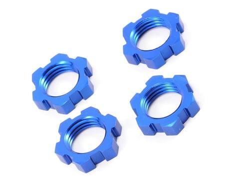 Traxxas Wheel Nuts Splined 17mm Blue-Anodized Revo/T-Maxx 3.3/E-Revo/Summit (4) TRA5353