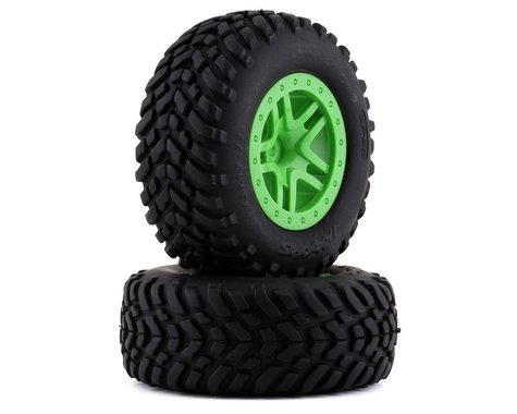 Traxxas 2WD/4WD Mounted SCT Tires & Green Wheels TRA5892G