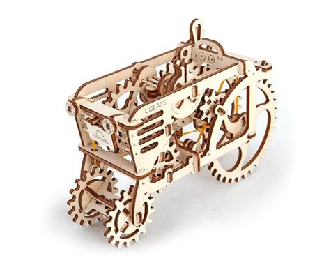 UGears Tractor Mechanical Wooden 3D Model