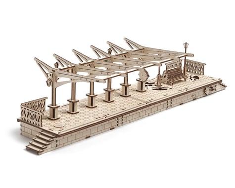 UGears Railway Platform Wooden 3D Model